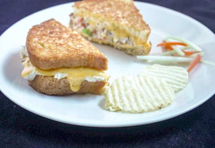 Best Damn Grilled Tuna And Cheese Binkys Culinary Carnival