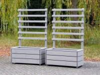 Pflanzkasten mit Rankgitter - heimisches Holz - Made in ...
