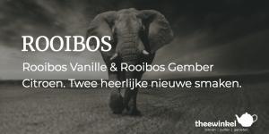Rooibos Vanille en Rooibos Gember Citroen