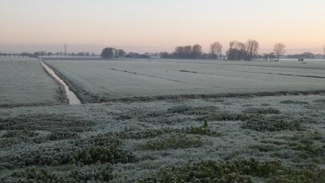 Beemster in Beeld - Vanaf Zuiddijk, Zuiderweg bij zonsopgang