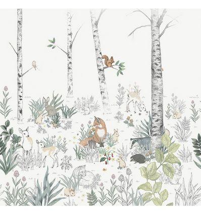 Scopri tutte le informazioni sulla qualità della nostra carta da parati: Murale In Carta Da Parati Magic Forest Volpi E Animali Del Bosco