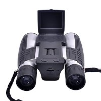 "PYRUS 12x32 Digital Camera Binoculars 2"" LCD Display Handsfree Neck Strap Binocular Camera with 32mm Objective Lens"