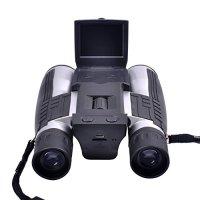 "PYRUS 12x32 Digital Camera Binoculars 2"" LCD Display Handsfree Neck Strap Binocular Camera with 32mm Objective Lens"