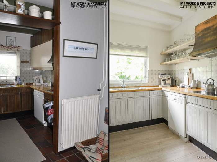 before and after picture Restyling keuken Reeuwijk particulier woning ©BintiHome