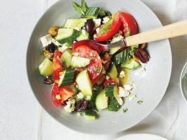 Recette: Salade grecque de concombres, tomates et feta
