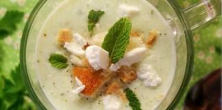 Gaspacho au fromage et concombre