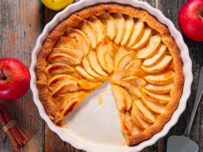 tarte aux pommes et compote à la cassonade