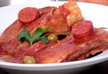 Poitrine de veau à la catalane