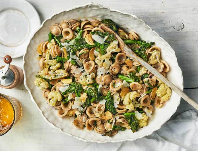 Orecchiette aux légumes grillés à l'italienne