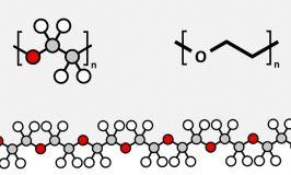 Polyethylene glycol (PEG) molecule, chemical structure