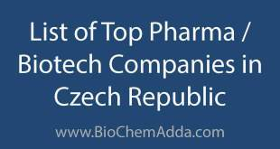 List of Top Pharma Biotech Companies in Czech Republic | BioChem Adda