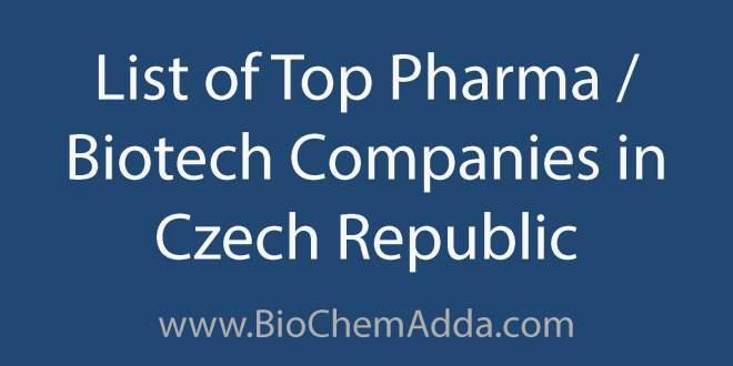 List of Top Pharma Biotech Companies in Czech Republic | BioChem Adda