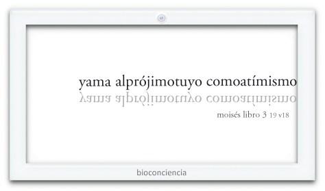 mensaje yama alprójimotuyo comoatímismo