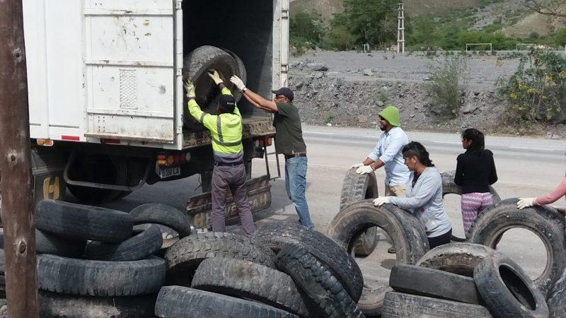 En la Quebrada de Humahuaca reciclan neumáticos para elaborar cemento