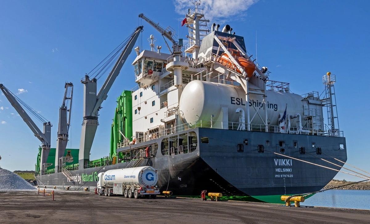 Buque transporta cargamento de 25 mil toneladas con biogás licuado