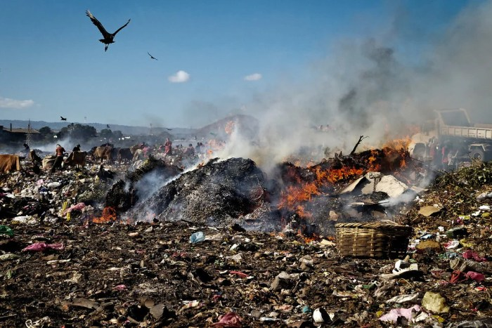 Burning of municipal wastes is a common practice in Nigeria
