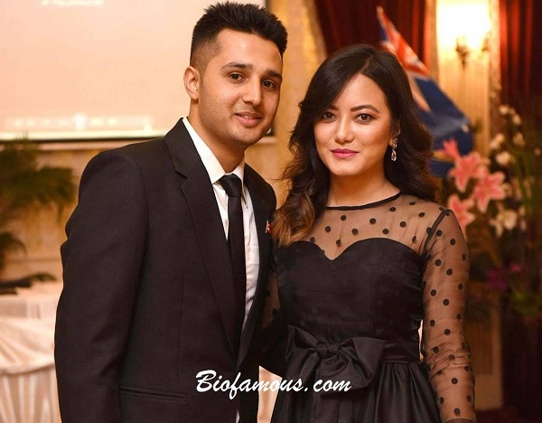 Prakriti Shrestha with her husband