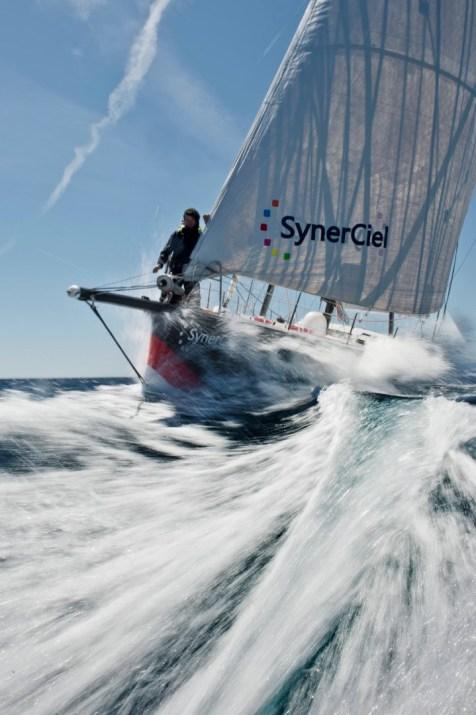 SYNERCIEL - IMOCA - BIOFIB - VENDÉE GLOBE 2012 - SKIPPER: JEAN LE CAM (FRA) PHOTO : VINCENT CURUTCHET / DARK FRA