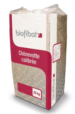 Biofibat', la chènevotte calibrée pour béton de chanvre