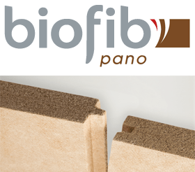 """Dotés de performances thermiques certifiées ACERMI, les panneaux Biofib'Pano constituent, en association avec les autres panneaux """"flex"""" de la gamme (Biofib'Duo et Biofib'Chanvre), une solution complète d'isolation particulièrement adaptée en procédé ITE (sous bardage)."""