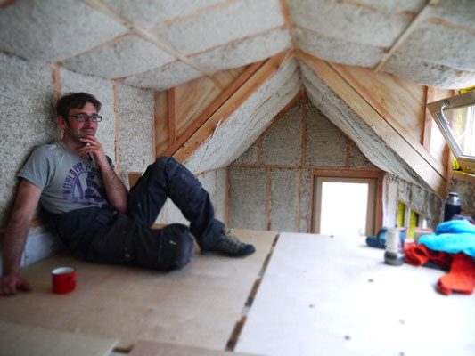 Isolation de Tiny House avec du Biofib'Trio
