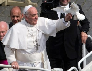 Vatican Pope Liberated Doves