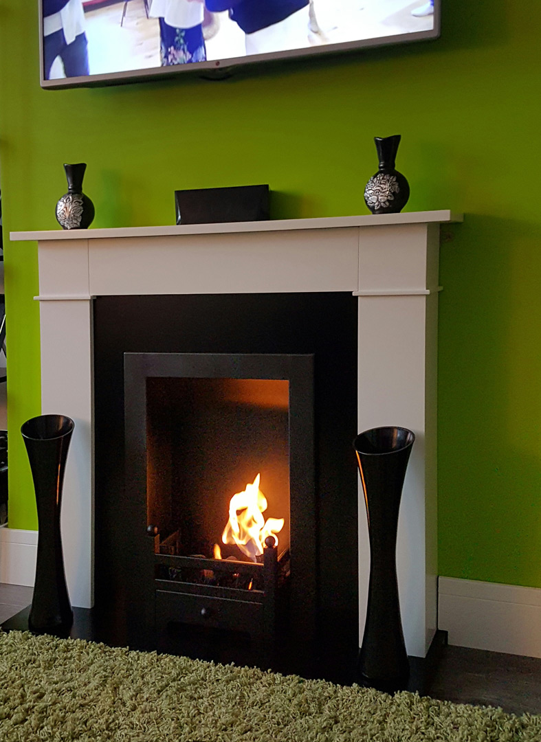 Converting an old traditional fireplace with freestanding Carrington Bio Ethanol Fireplace  Bio