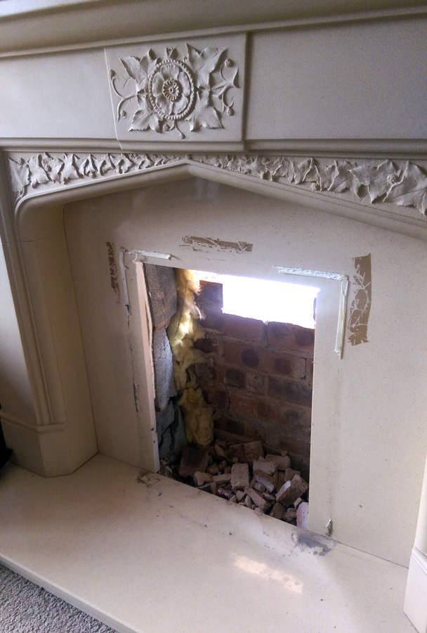 Converting an old gas fireplace with a DIY Bio Ethanol Insert  Bio Fires Gel Fireplaces Ltd