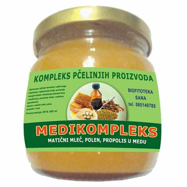 Medikompleks - Matični mleč, polen, propolis u medu