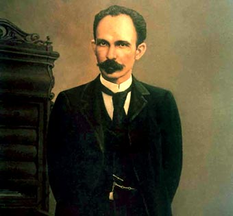 El Héroe Nacional de Cuba, José Martí.