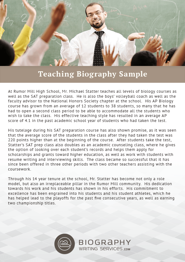 All You Need to Know About Teaching Biography Writing