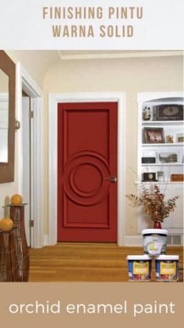 finishing pintu warna solid