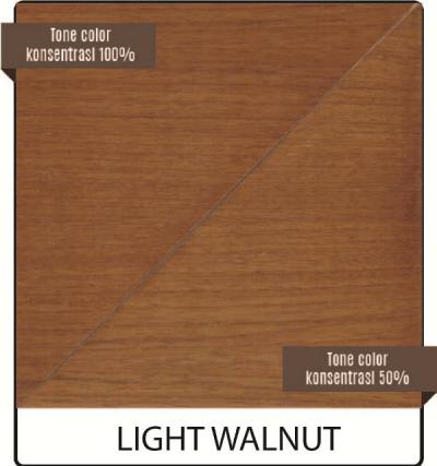 cat kayu biovarnish warna light walnut