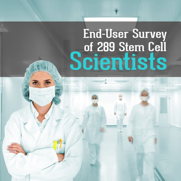 End-User Survey of 289 Stem Cell Scientists