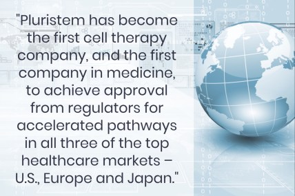 Pluristem Therapeutics - US, EU and Japan