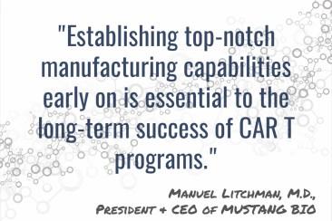 Mustang Bio - CAR-T Manufacturing