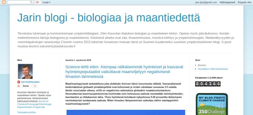 jarin blogi biologiaa