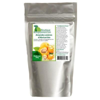 Amandes amères d'abricot bio anti-cancer naturel grâce à la vitamine B17
