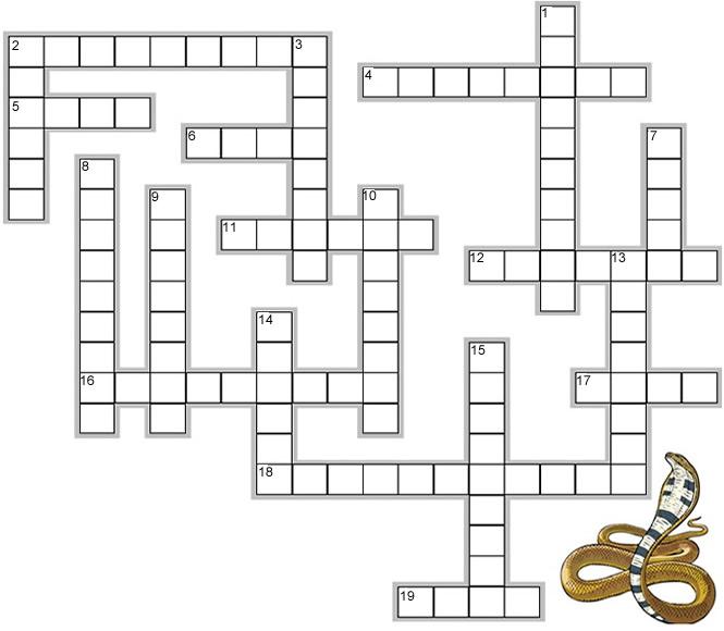 Reptiles Crossword
