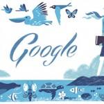 H θαλάσσια Βιολόγος Ρέιτσελ Λουίζ Κάρσον στο σημερινό Doodle