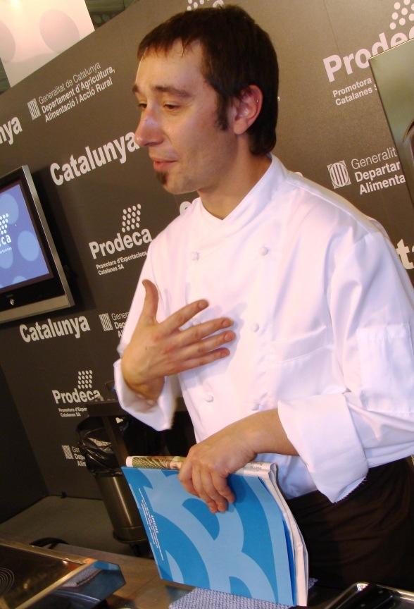 Menú ecológico con productos catalanes en Alimentaria