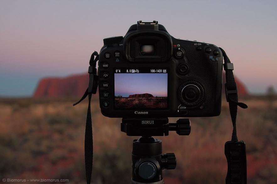 La Sirui G10-X in accoppiata con la mia 7D ad Uluru.