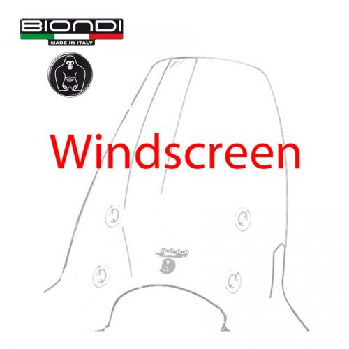 Windscreen for scooter Club Model (Mounting Kit Included