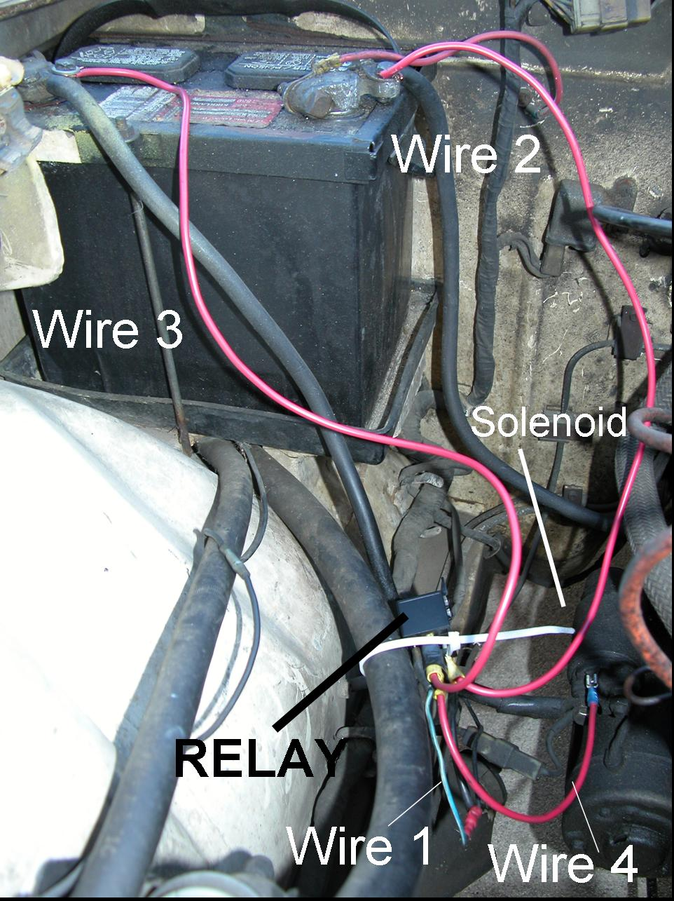 medium resolution of addition of a relay to a 240z starter system chevy 350 starter solenoid wiring in addition chevy 350 starter wiring