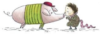 Ein Schwein im Kindergarten innen 1