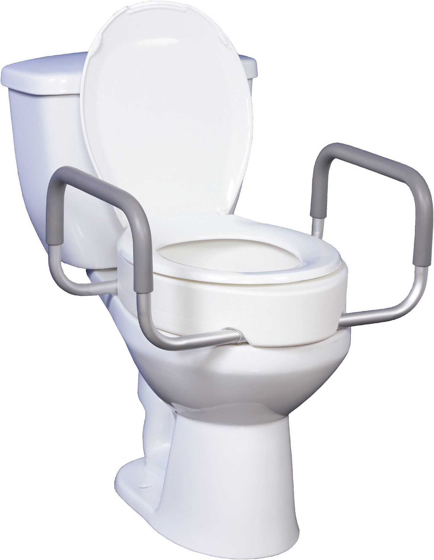 handicap potty chair tall adjustable office toilet seat riser with removable arms bathroom safety