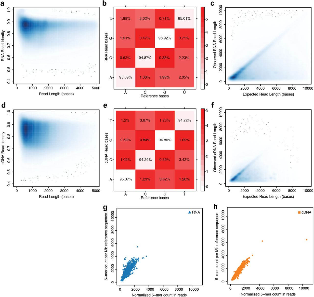 hight resolution of nanopore native rna sequencing of a human poly a transcriptome biorxiv