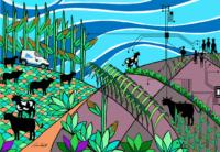 A obra foi inspirada nos atendimentos do IBS às propriedades rurais