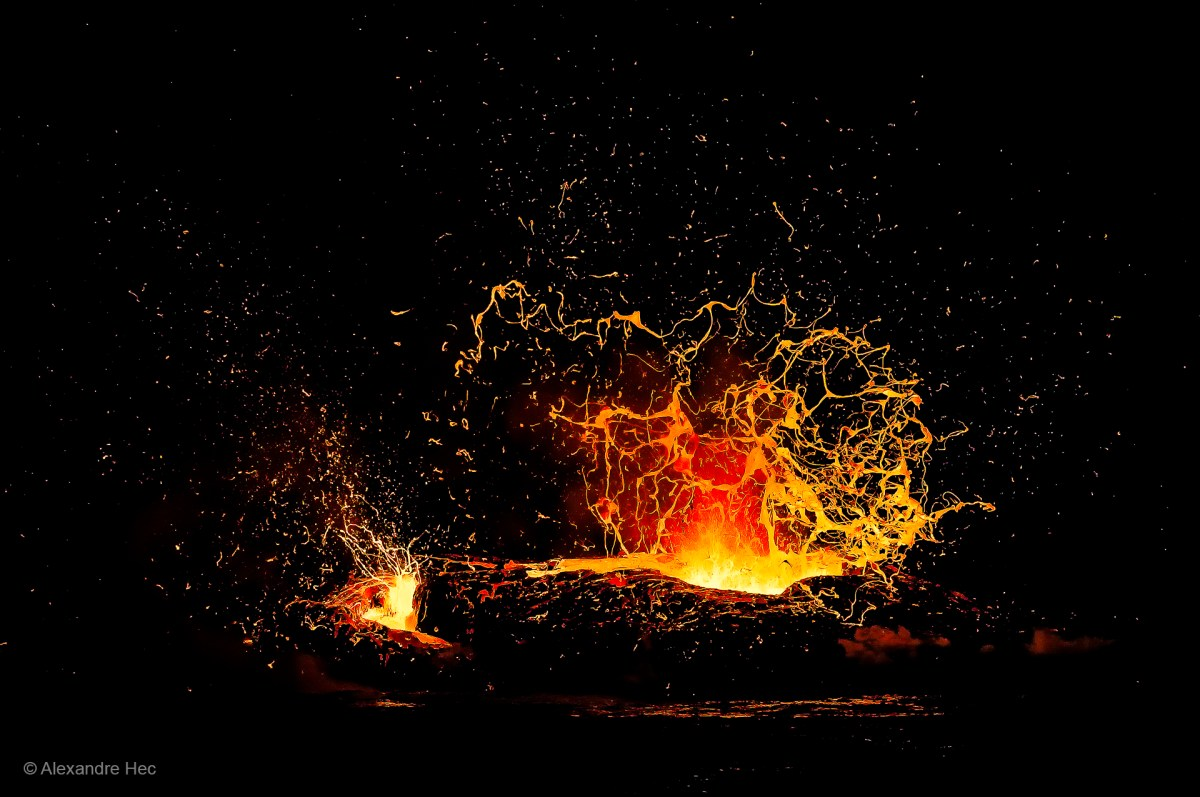 Eruption at Kilauea, Hawaii.