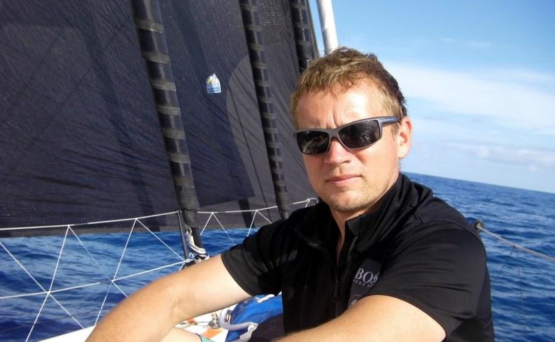 Andy Meiklejohn onboard Hugo Boss - Open 60